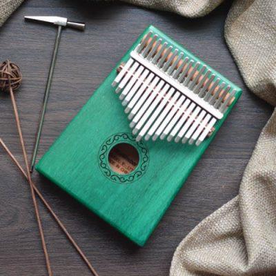 Kalimba 17 Mahogany Classical Green 02